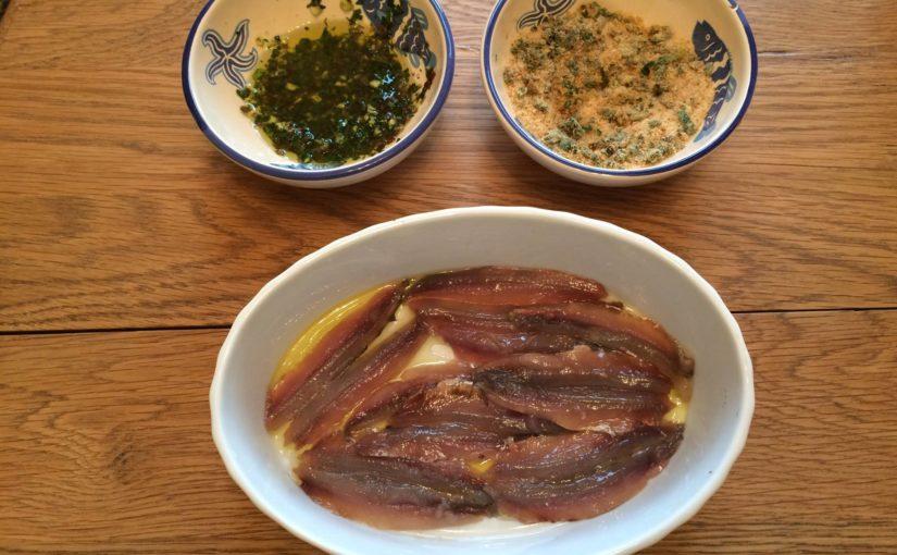 Ingredienti per alici in tortiera