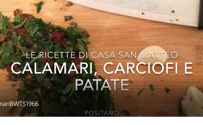 Calamari carciofi e patate