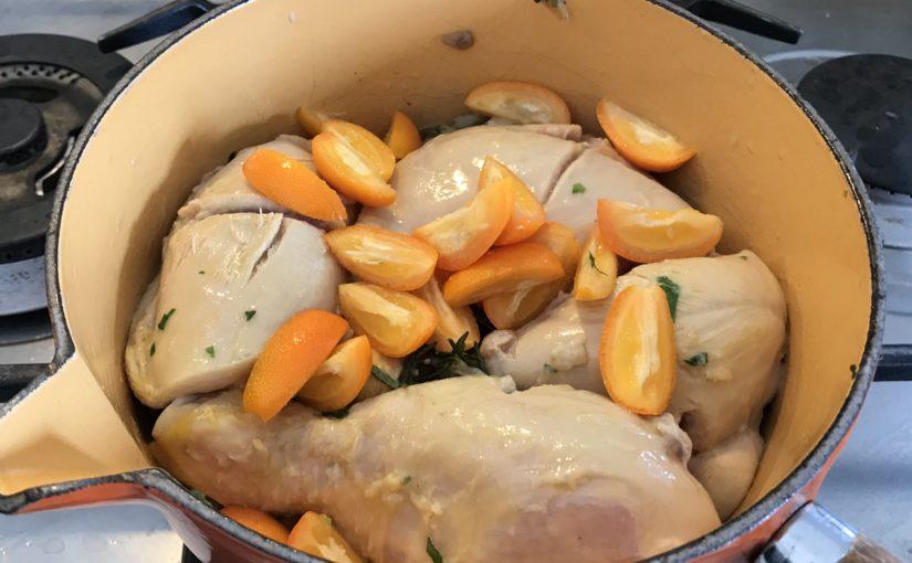 Pollo in umido ai Kumquat